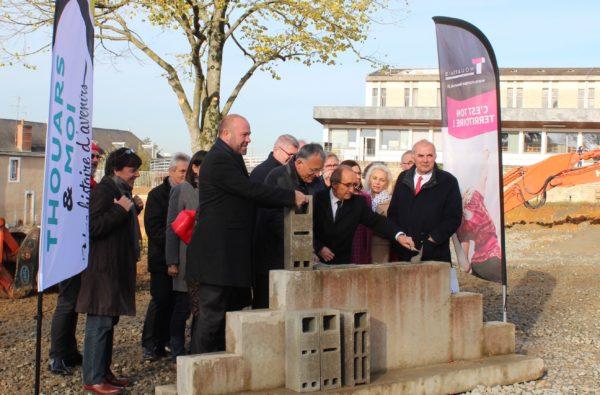 La première pierre de l'aménagement du Square et du cinéma a été posée !