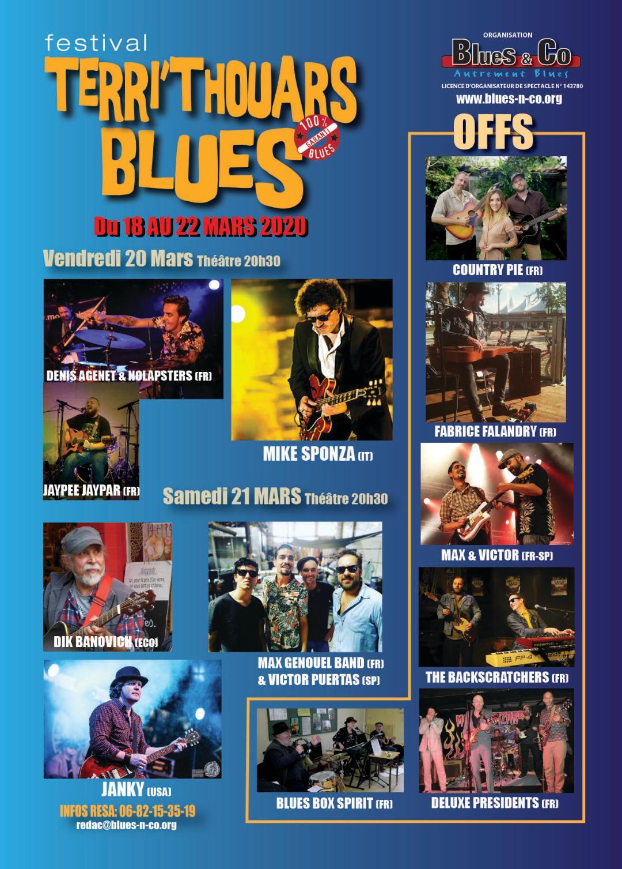Festival Terri' Thouars Blues: 18 au 22 Mars