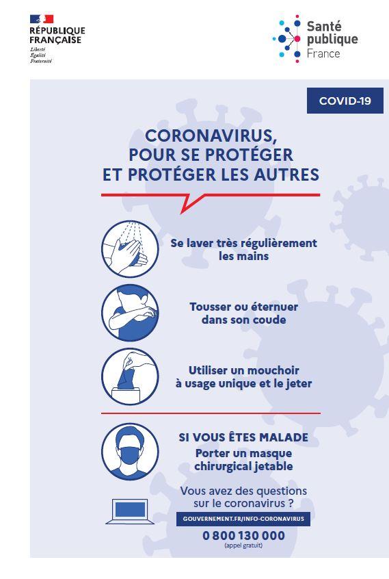 Prévention – COVID 19 Fermeture de services administratifs