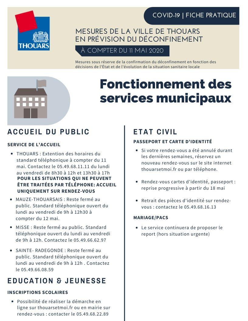 11 mai, déconfinement progressif : les mesures à Thouars