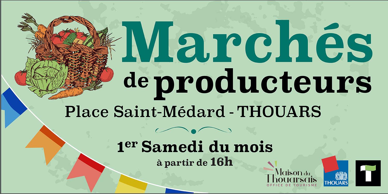 Marché de producteur sur la place Saint Médard.