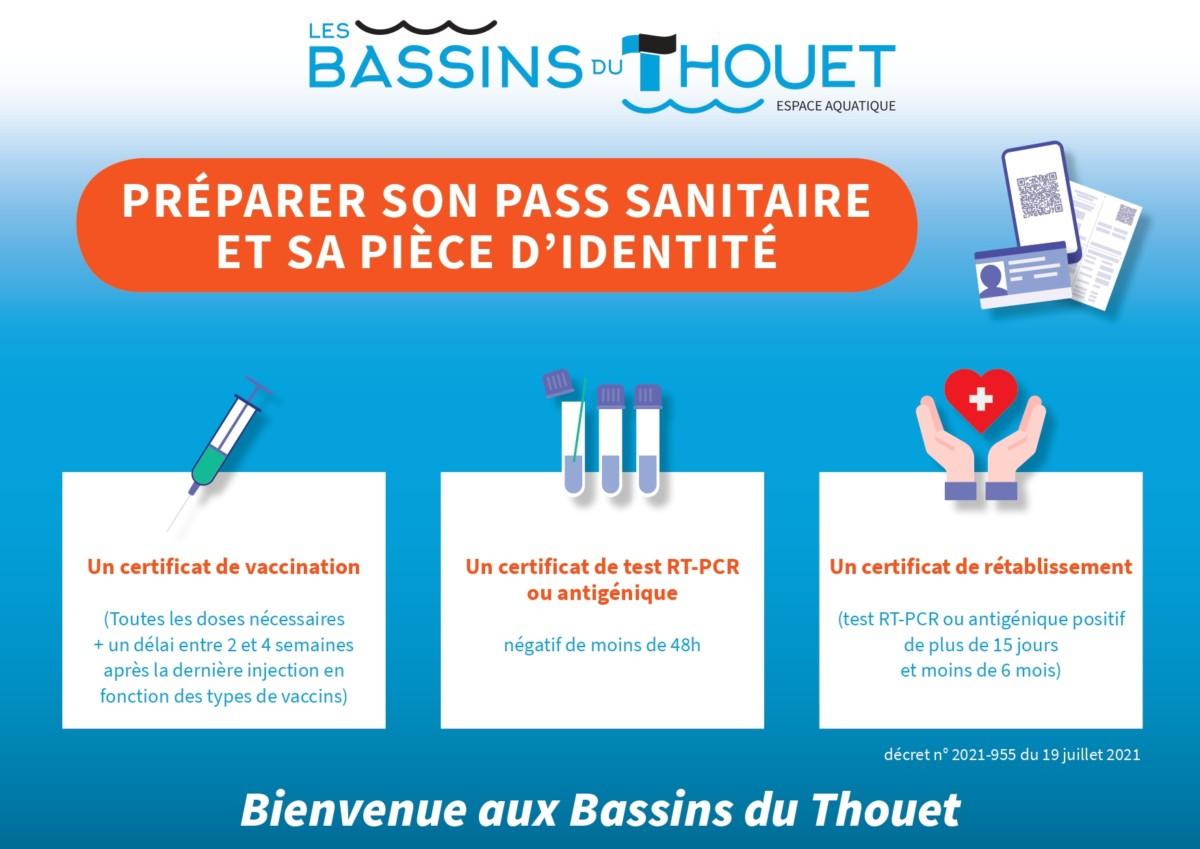 Pass Sanitaire aux Bassins du Thouet