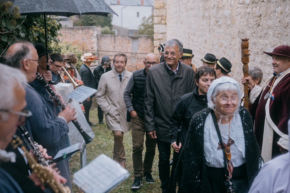Vendange de la Cité libre du vieux Thouars